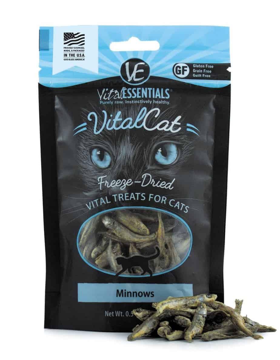 vital cat freeze dried minnows