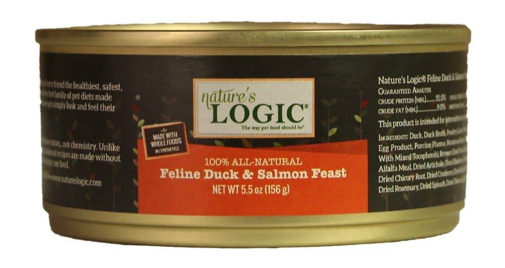 nature's logic feline duck and salmon feast