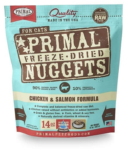 Feline Primal Chicken and Salmon Formula Nuggets