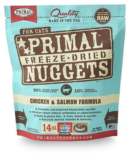 Feline Primal Chicken and Salmon Formula Nuggets