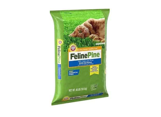 felinepine non tracking cat litter