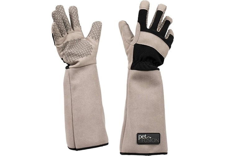 PetFusion Multipurpose Five Finger Cat Grooming Gloves
