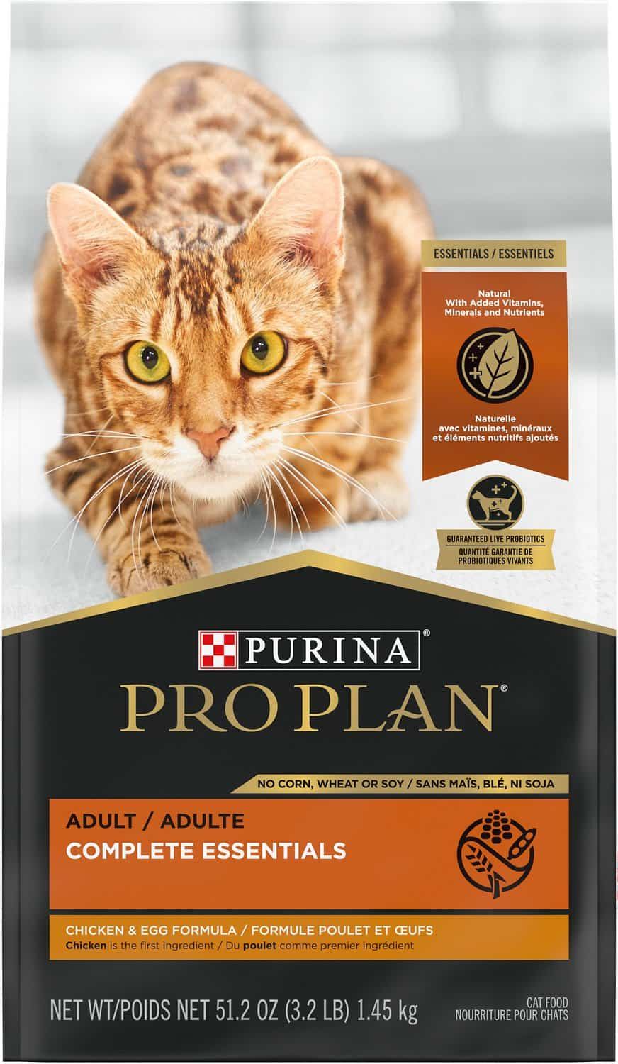 PURINA PRO PLAN Adult Chicken & Egg Formula Grain-Free Dry Cat Food   Chewy