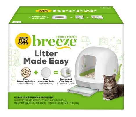 Tidy Cats Breeze Hooded Cat Litter Box System   Chewy